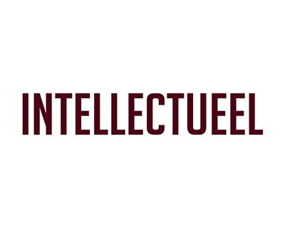 intellectueel tekst rood