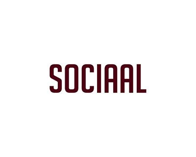 sociaal tekst rood